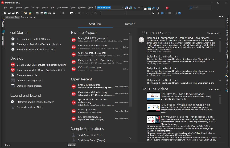 網路上出現 RAD Studio 10.2.3的畫面