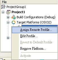 Assign Remote Profile